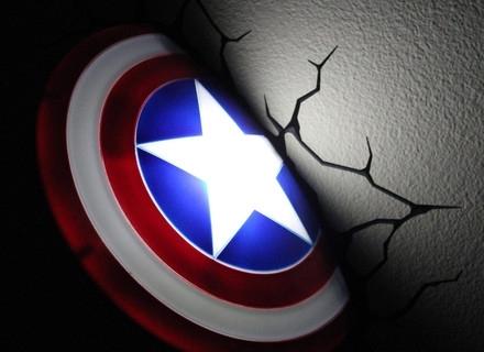 3D Wall Art Captain America Night Light Intended For Best And Newest 42 3D Wall Art Nightlight, 3D Wall Art Captain America Night Light (View 3 of 15)