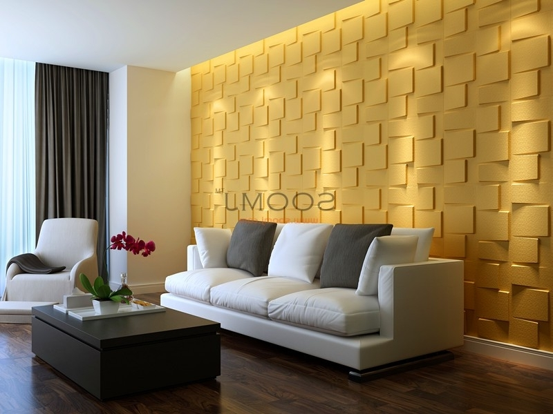 3D Wall Art Coverings Modern Wall Panels 32.29 Sq (View 4 of 15)