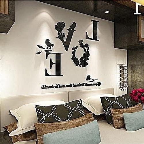 3D Wall Art Etsy With Most Recently Released 3D Wall Art Etsy 3D Wall Sticker Etsy 3D Wall Decals Flowers (View 9 of 15)
