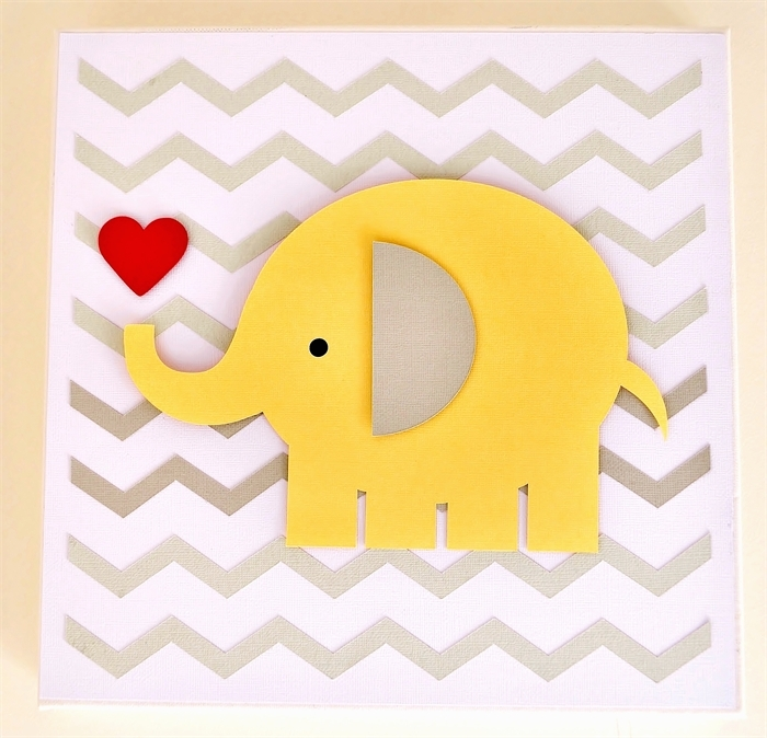 3D Wall Art For Baby Nursery Regarding Trendy Baby Girl Chevron Zigzag Elephant 3D Paper Wall Art For Nursery (View 3 of 15)