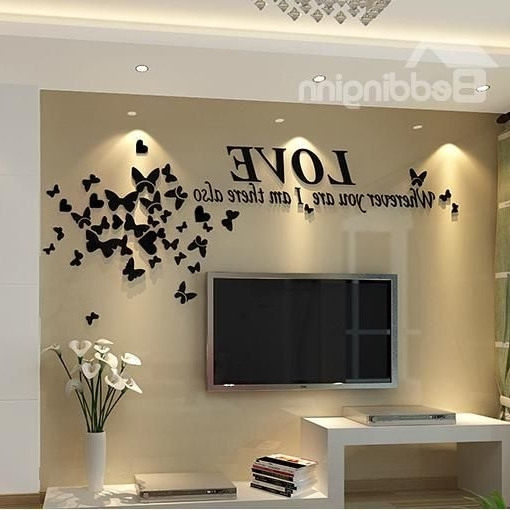 3D Wall Art For Bedrooms for Most Recent Creative Designs 3 D Wall Art - Ishlepark