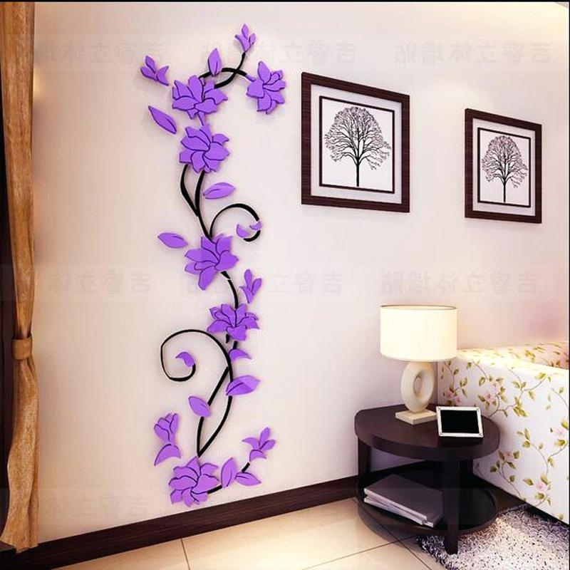 3D Wall Art For Bedrooms Throughout 2017 3D Wall Decor Stickers Wall Stickers Cat Stickers Living Room View (View 14 of 15)