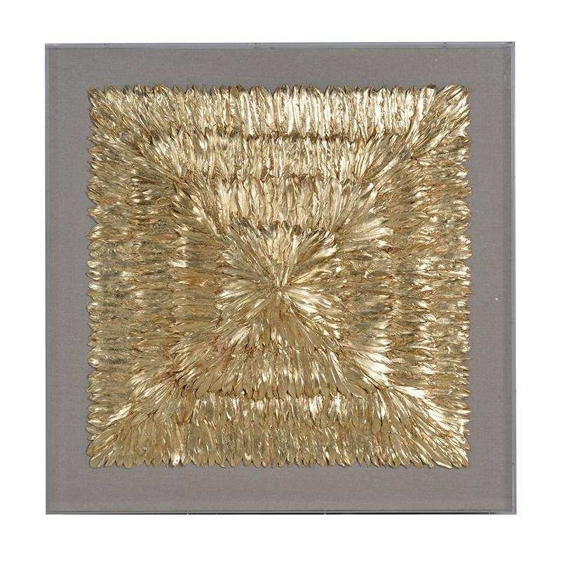 3D Wall Art Inspirational Huge Framed Gold 3D Feather Wall Art with regard to Most Up-to-Date Framed 3D Wall Art