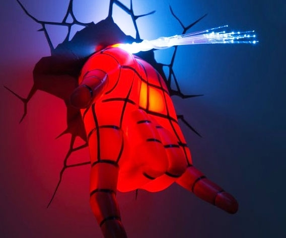 Featured Photo of 3D Wall Art Night Light Spiderman Hand