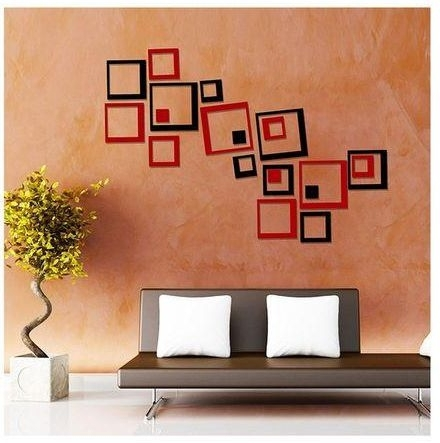 3D Wall Art Ultra Modern 3D Diy (Do It Yourself) Black & Red Acrylic Regarding Well Known Do It Yourself 3D Wall Art (View 4 of 15)