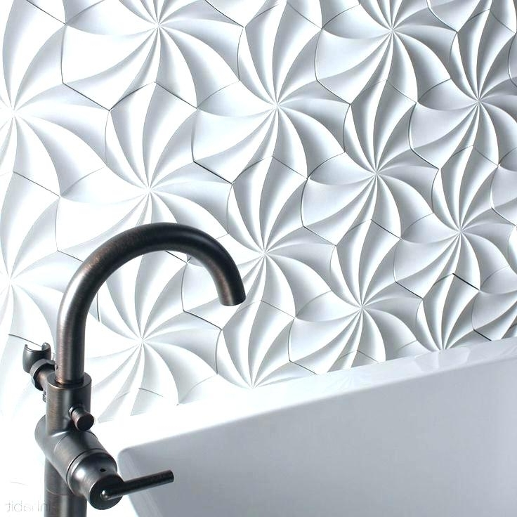 3D Wall Art White Wall Art Creative Wall Tile Designs To Help You with Most Recent White 3D Wall Art