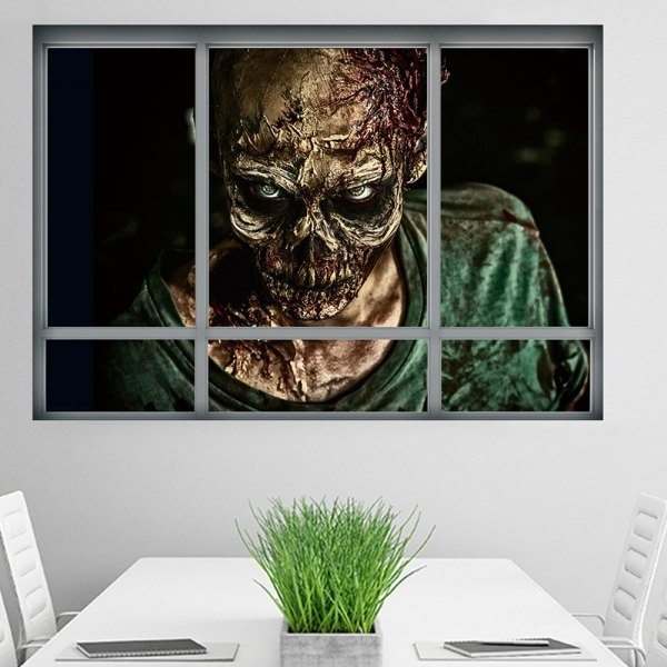 3D Wall Art Wholesale Inside 2018 Wholesale Halloween Window Zombie 3D Wall Art Sticker For Bedrooms (View 13 of 15)