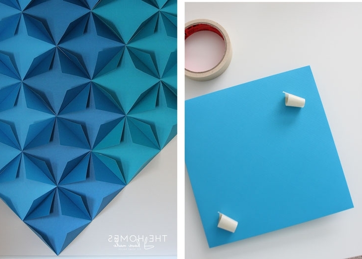 3D Wall Art With Paper In Trendy Renter Friendly 3D Paper Wall Art (View 2 of 15)