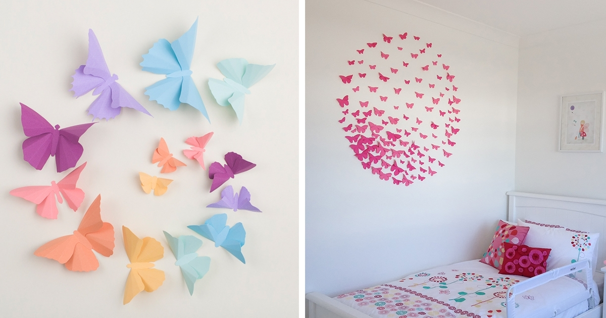 3D Wall Art With Paper inside Fashionable I Make 3D Paper Wall Decorations To Fix Boring, Flat Walls