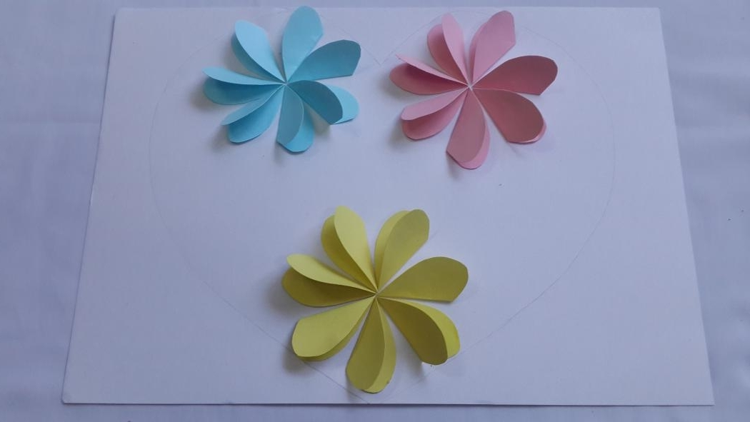 3D Wall Art With Paper Throughout Current Paperflowermahi Ideal 3D Flower Wall Art – Home Design And Wall (View 7 of 15)