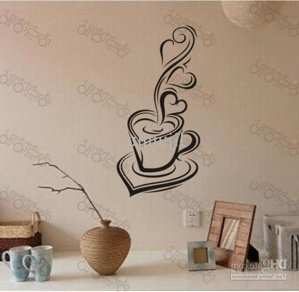 3D Wall Art Words With Fashionable Coffee Mood Removable Vinyl Pvc Wall Art Words Stickers Diy 3D House (View 3 of 15)