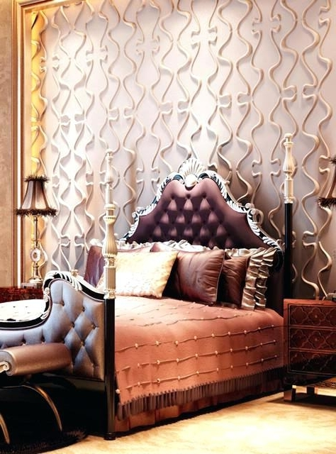 3D Wall Designs Bedroom – Freiveganlife Pertaining To Trendy Bedroom 3D Wall Art (View 11 of 15)