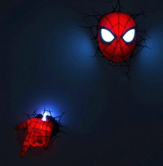 3D Wall Night Light The Avengers Night Lights 4 Sports 3D Wall With Regard To Favorite 3D Wall Art Night Light Spiderman Hand (View 7 of 15)