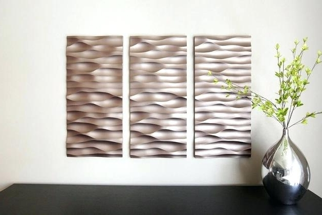 3D Wall Panels Wall Art For Widely Used Wall Art 3D Panels Wall Art Design Metal Wall Art Panels Textured (View 3 of 15)