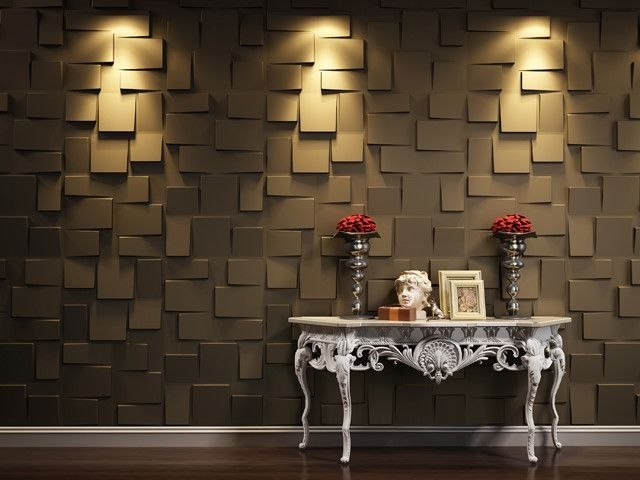 3D Wall Panels(Blocks) – Contemporary – Wallpaper – Vancouver – 3D With Regard To Trendy Vancouver 3D Wall Art (View 2 of 15)