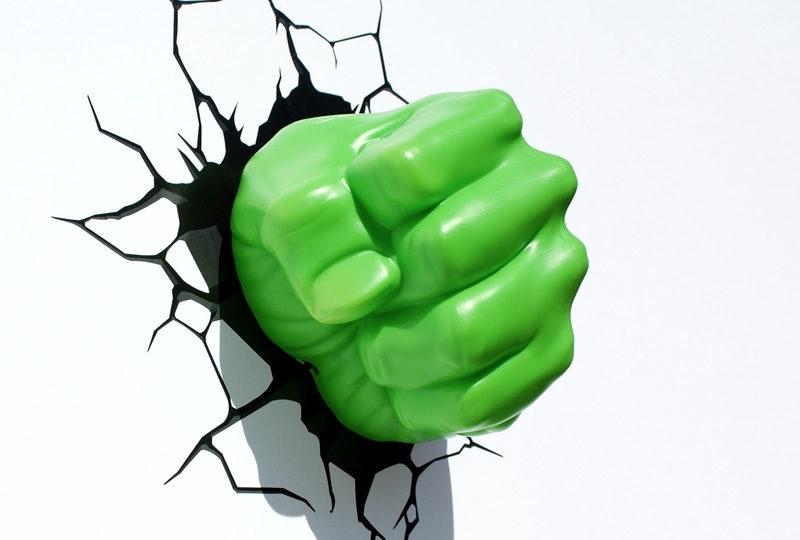 3Dlightfx Regarding Well Liked Hulk Hand 3D Wall Art (View 2 of 15)
