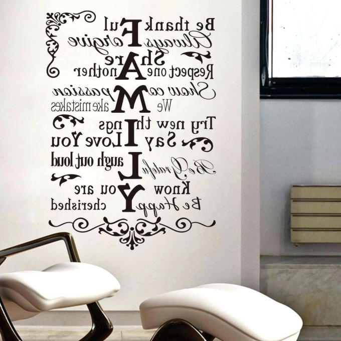 4 Family Inspirational Wall Art, 20 Best Collection Of Large With Regard To Most Popular Large Inspirational Wall Art (View 11 of 15)