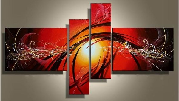 4 Piece Art, 4 Piece Canvas Art Sets Inside Widely Used 4 Piece Wall Art Sets (View 2 of 15)