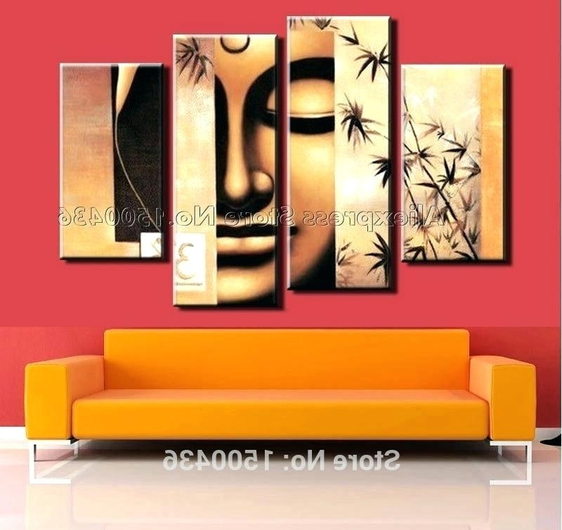 4 Piece Wall Art Sets Within Famous Wall Art Set Of 4 4 Piece Wall Art Set Mysterious Mask Oil Painting (View 5 of 15)