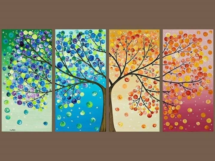 4 Seasons Tree Wall Artalys2 On Deviantart With Latest Seasonal Wall Art (View 3 of 15)