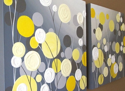 40 Grey And Yellow Wall Art, Yellow And Grey Wall Art Shop Gray And Throughout Preferred Yellow And Grey Abstract Wall Art (View 6 of 15)