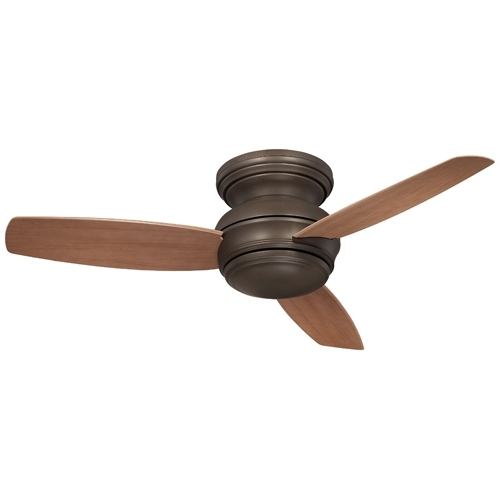 44 Inch Outdoor Ceiling Fans With Lights For Latest Minka Aire Traditional Concept Oil Rubbed Bronze 44 Inch Flush (View 4 of 15)