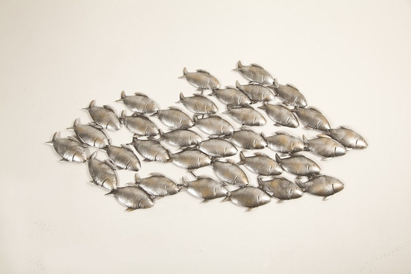 46 Fish Wall Art, Lookdown Fish School Wall Art Outdoor Art Pertaining To Trendy Stainless Steel Fish Wall Art (View 7 of 15)