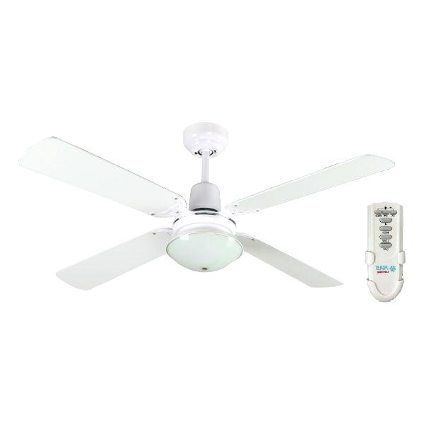 48 Inch Outdoor Ceiling Fans With Light Within Well Liked Inch Ceiling Fan With Light And Remote Control White With Elegant  (View 8 of 15)