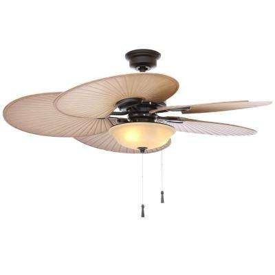 48 Outdoor Ceiling Fans With Light Kit In 2018 Black – Outdoor – Ceiling Fans – Lighting – The Home Depot (Gallery 13 of 15)