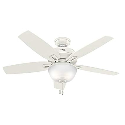 48 Outdoor Ceiling Fans With Light Kit With Regard To Latest Hunter Wetherby Cove 48 In Fresh White Indoor/outdoor Downrod Or (Gallery 8 of 15)