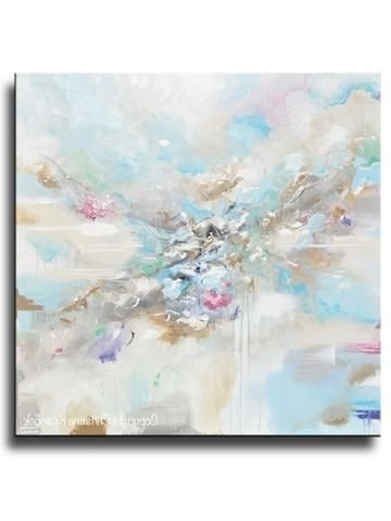 48X48 Canvas Wall Art In 2018 Giclee Print Art Abstract Grey White Painting Coastal Canvas Prints (View 15 of 15)