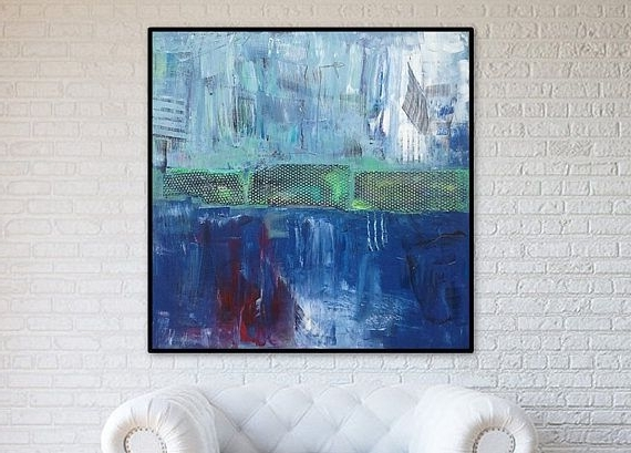 48X48 Canvas Wall Art pertaining to Most Up-to-Date 48X48 Inch Large Abstract Painting Abstract Art Abstract Wall Art