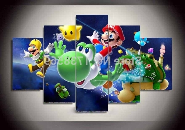 5 Pcs Home Decoration Wall Art Picture For Children Gift Cartoon Intended For Current Toy Story Wall Art (Gallery 14 of 15)