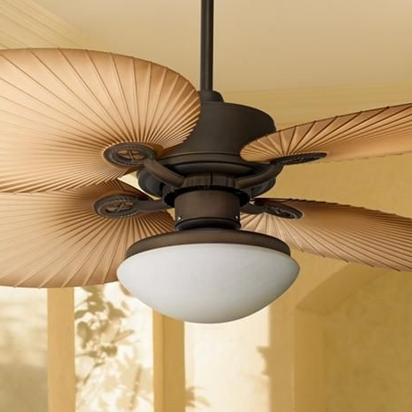 "52"" Casa Vieja Aerostat Wide Palm Blades Outdoor Ceiling Fan regarding Well-known Outdoor Ceiling Fans With Palm Blades"
