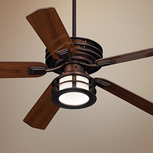 """52"""" Casa Vieja Mission Ii Bronze Outdoor Ceiling Fan – Hunter Within Widely Used Bronze Outdoor Ceiling Fans With Light (Gallery 7 of 15)"""