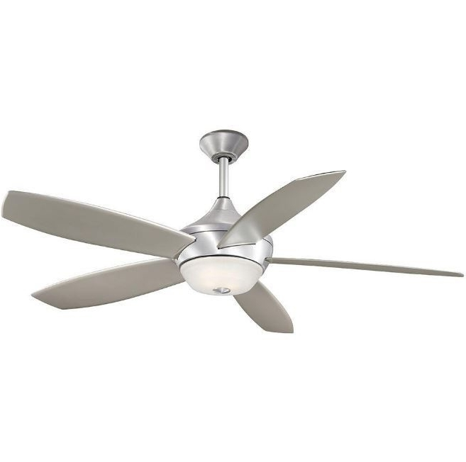 52 Inch Indoor/outdoor Brushed Aluminum Ceiling Fan W/ 5 Abs Curved In Most Recent Outdoor Ceiling Fans With Aluminum Blades (View 8 of 15)
