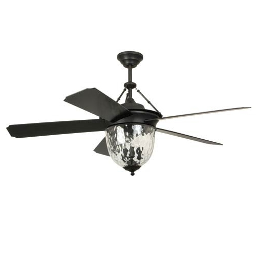 52 Inch Outdoor Ceiling Fans With Lights in Most Current Craftmade Cavalier Aged Bronze Brushed 52 Inch Outdoor Ceiling Fan