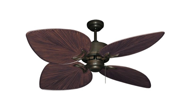 52 Inch Tropical Outdoor Ceiling Fan Bombay Weathered Brick - Gulf regarding Fashionable Tropical Outdoor Ceiling Fans With Lights