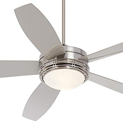 """60"""" Casa Province Brush Nickel Outdoor Ceiling Fan – – Amazon Pertaining To Well Liked Nickel Outdoor Ceiling Fans (Gallery 1 of 15)"""