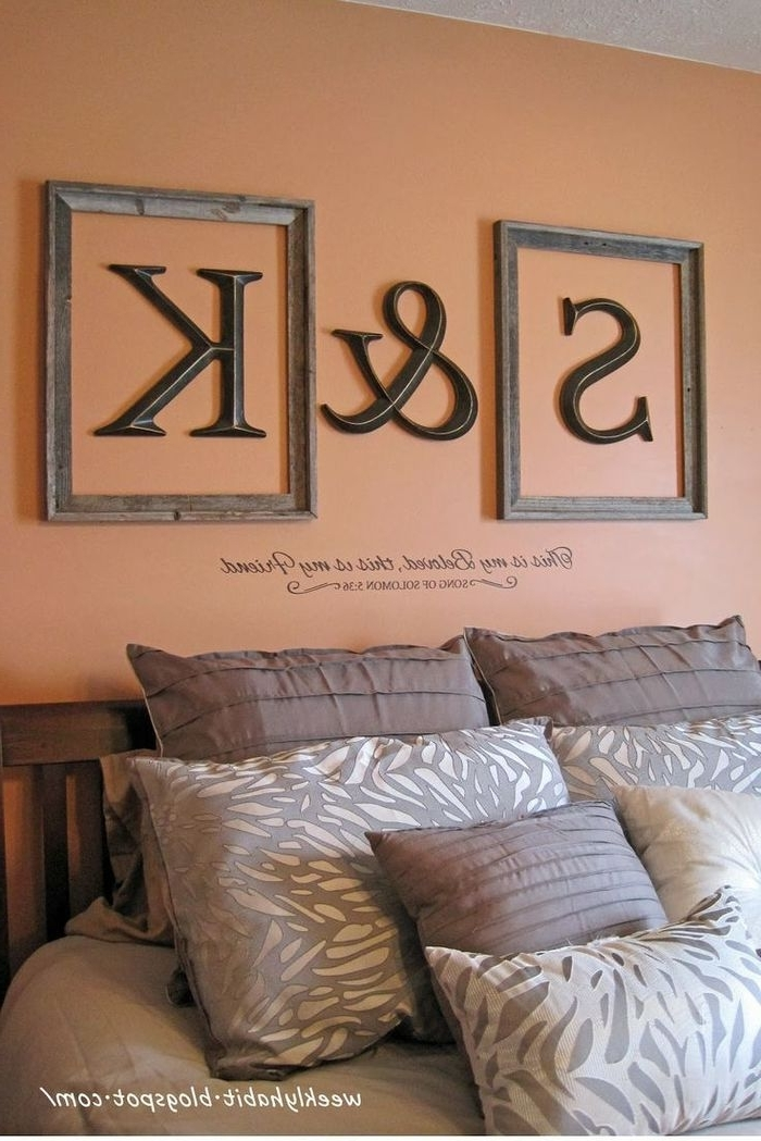 7. Love The Framed Initials Above The Bed Your Craft Co Monogram For Well Known Framed Monogram Wall Art (Gallery 7 of 15)