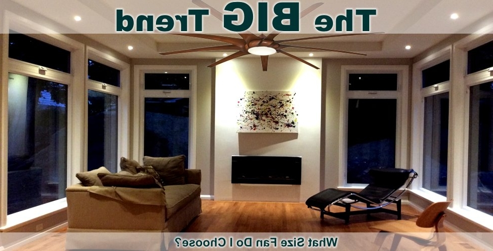 "72 Inch Outdoor Ceiling Fans With Preferred Large Ceiling Fans – Shop Low Rpm Fans With 60"" To 72"" Blade Span (Gallery 12 of 15)"