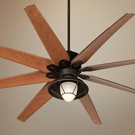 "72"" Predator Bronze Outdoor Ceiling Fan With Light Kit (Gallery 3 of 15)"