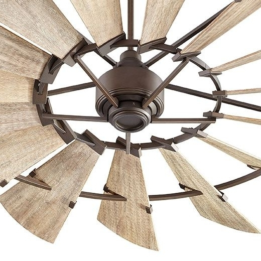72 Windmill Fan Quorum International Farmhouse Rustic Inside Rustic Intended For Widely Used Outdoor Ceiling Fans For Canopy (View 12 of 15)