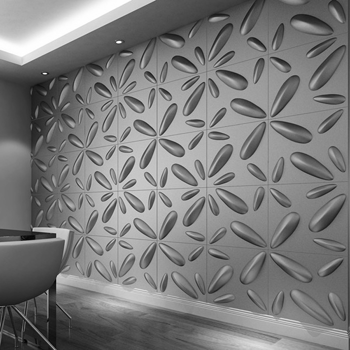 8. White 3D Wall Art with Latest White 3D Wall Art