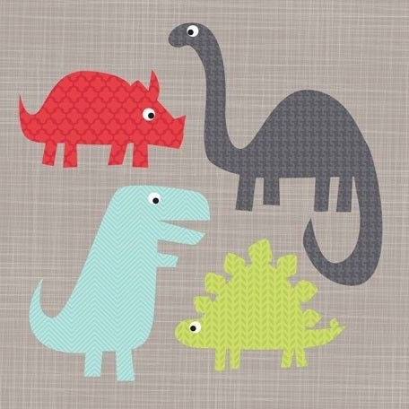 "A Gathering Of Dinosaurs"" – Canvas Wall Art From Oopsy Daisy, Fine In Best And Newest Dinosaur Canvas Wall Art (Gallery 15 of 15)"