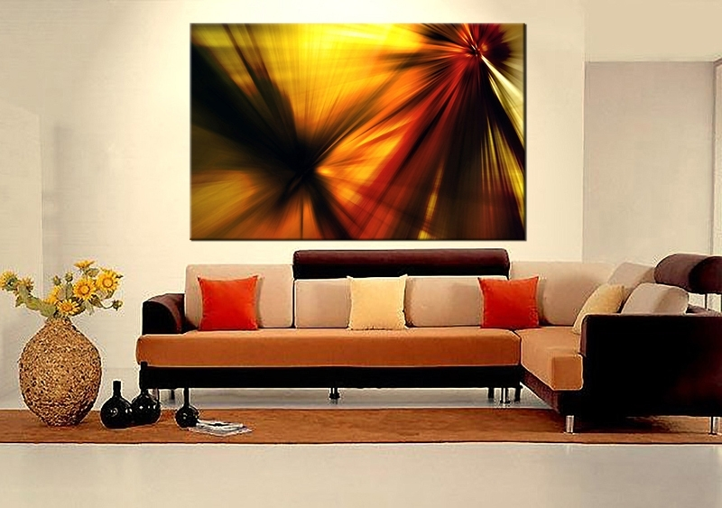 Absolutely Abstract Wall Art For Living Room 1 Piece Decor Yellow In Well Known Abstract Wall Art For Dining Room (View 4 of 15)