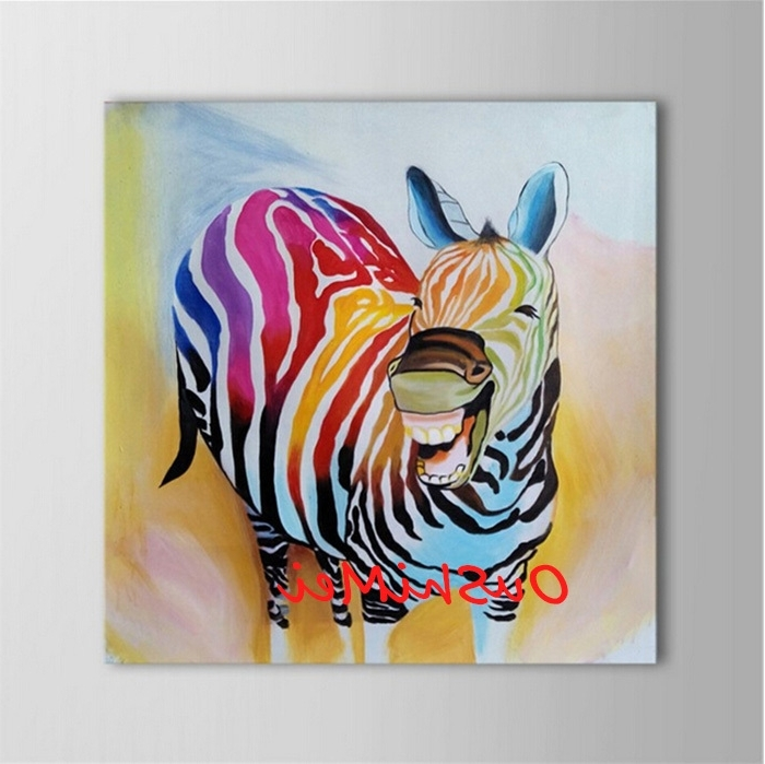 Abstract Animal Wall Art Pertaining To Popular Hand Painted Abstract Animal Pictures Canvas Art Oil Painting Funny (View 4 of 15)