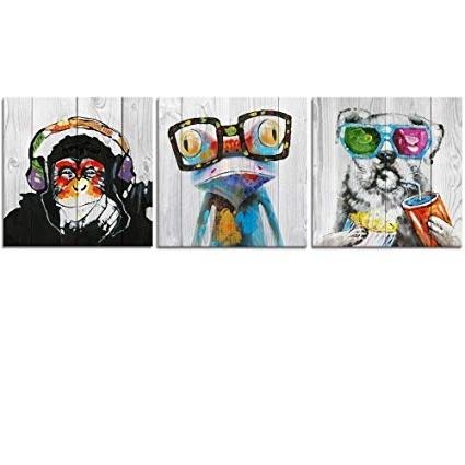 Abstract Animal Wall Art Regarding Most Recently Released Amazon: Abstract Animal Painting Canvas Prints Cool Dog Eat (View 5 of 15)