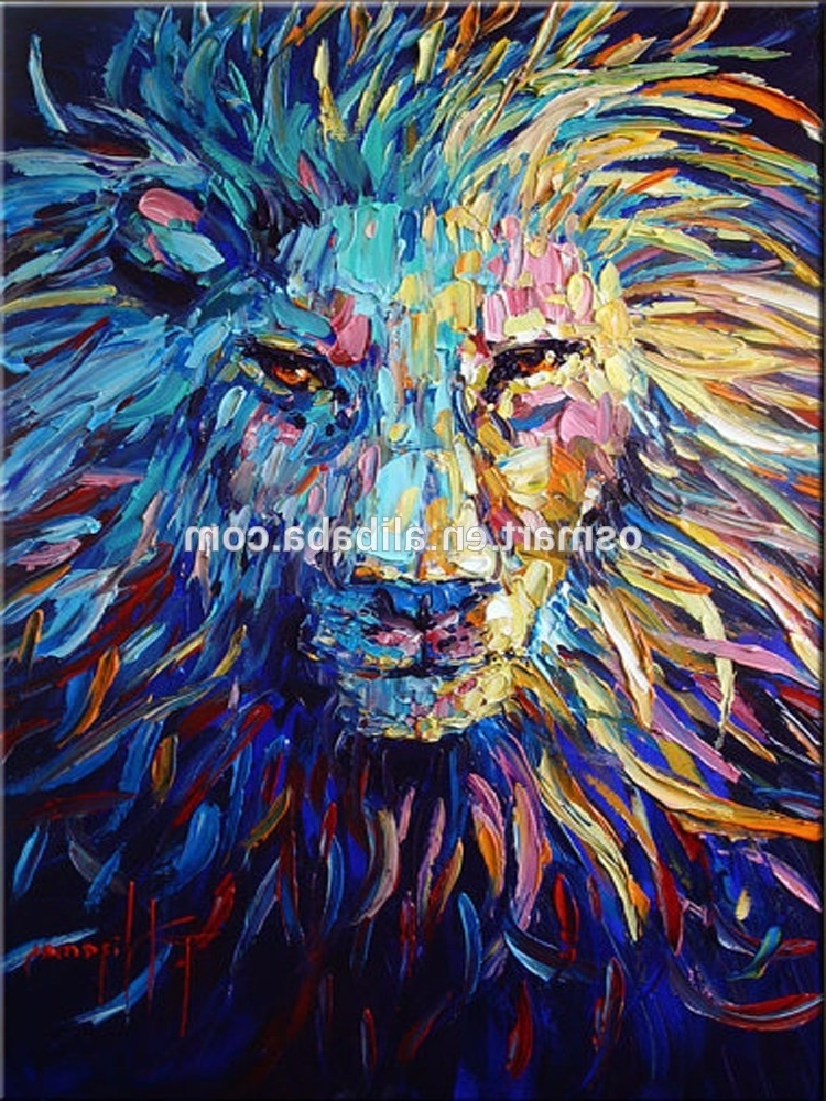 Abstract Animal Wall Art Throughout Newest Colorful Animal Oil Painting On Canvas Abstract Animal Oil Painting (View 3 of 15)