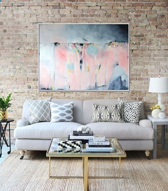 Abstract Art, Large Abstract Print , Giclee Print , Canvas Print With Regard To Popular Abstract Expressionism Wall Art (View 1 of 15)